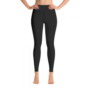 "Yoga Leggings ""1 LIFE 2 LIFT"" Text on Back, Logo on front"