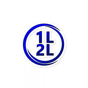 1L2L Circle Logo Sticker (3 sizes, Same Price)