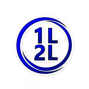 1L2L Circle Logo Sticker (3 sizes, Same Price)